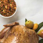 relleno de pavo de carne de res y frutos secos