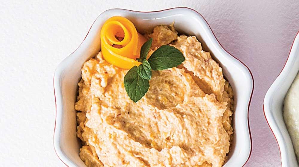 Dip de queso roquefort y arándanos