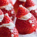 Saludable postre de fresas rellenas de Mascarpone