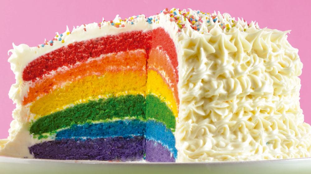Cómo hacer un pastel arcoíris