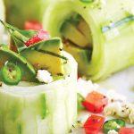 Rollo de aguacate fresco, súper delicioso y fácil de preparar