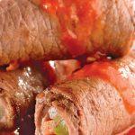 Rollos de bistec con verduras