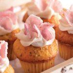 cupcakes de vainilla con rosas