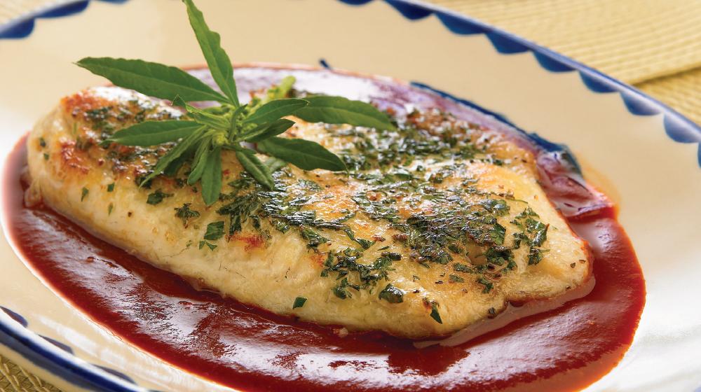Filete de pescado al epazote