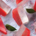 Jelly shots de mojito de sandía