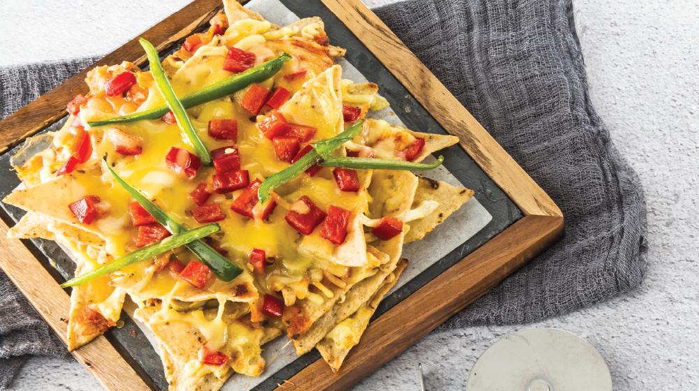 Deliciosa e irresistible pizza nachos
