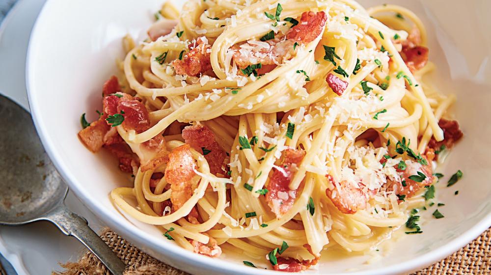 espagueti a la boloñesa con camarones