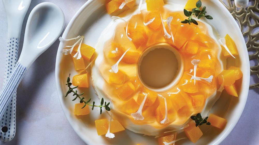 gelatina de durazno con yogur