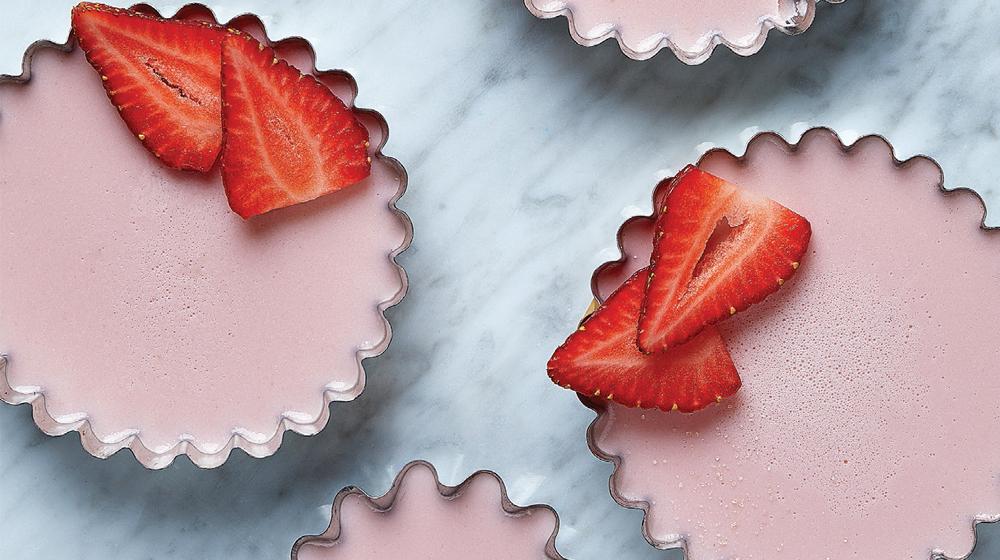 gelatina de fresa y plátano