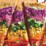 Pizza arcoiris, ¡súper divertida y saludable!