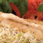 pollo con germinado de soya