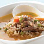 caldo de res con arroz