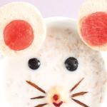 Recetas con avena para niños: carita de ratón
