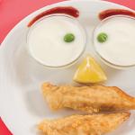 Dedos de pescado con aderezo de yogur