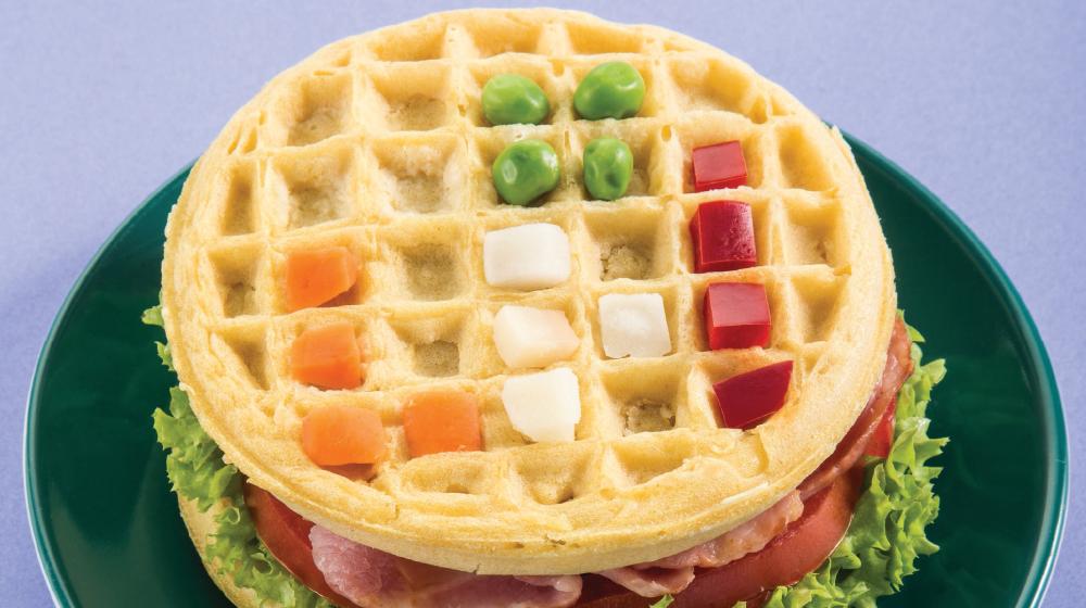 Desayunos para niños saludables: sándwich de waffle