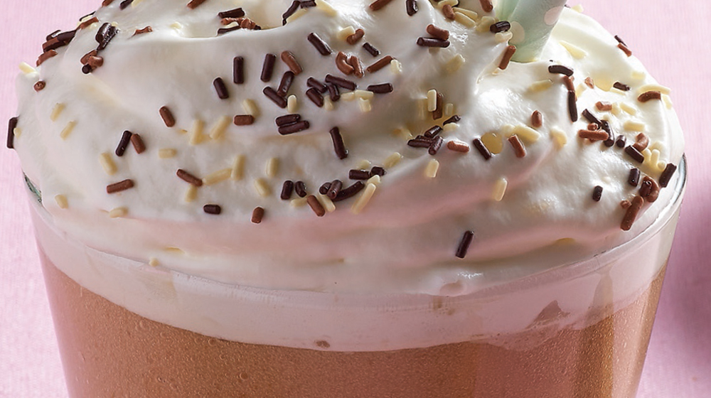frapuccino con chocolate blanco