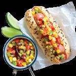 Hot dog con pico de gallo, ¡un manjar muy práctico!