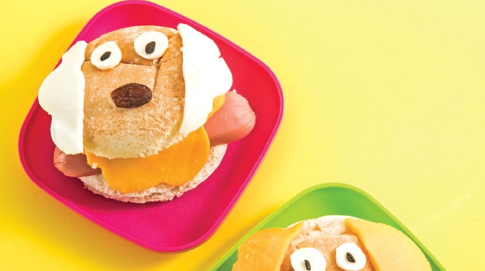 Hot dogs para niños en forma de perrito