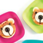 Minipizzas en forma de osito para tu hijo