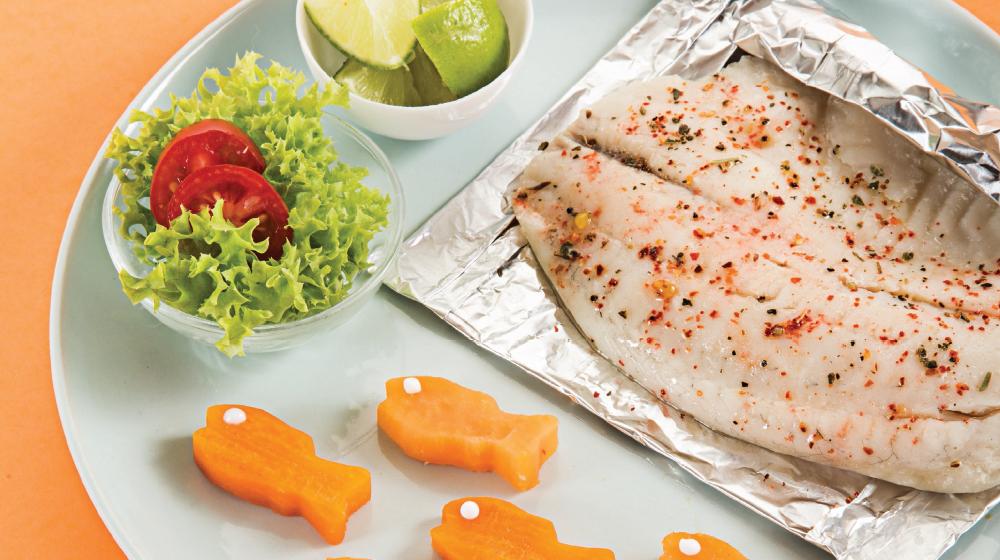 Receta de pescado empapelado especial para niños