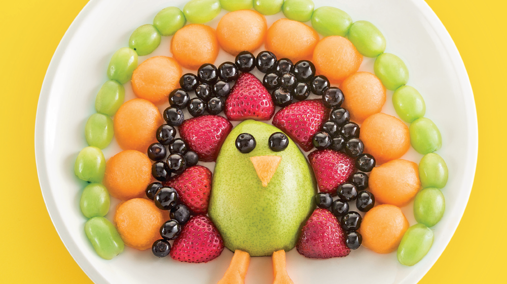 Postres Para Niños Con Frutas Pavo Real De Colores Cocina Fácil