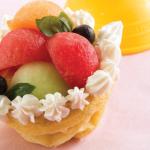 Postres para niños saludables: canastas de coctel de frutas