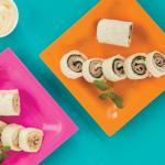 Rollitos de jamón y atún estilo sushi