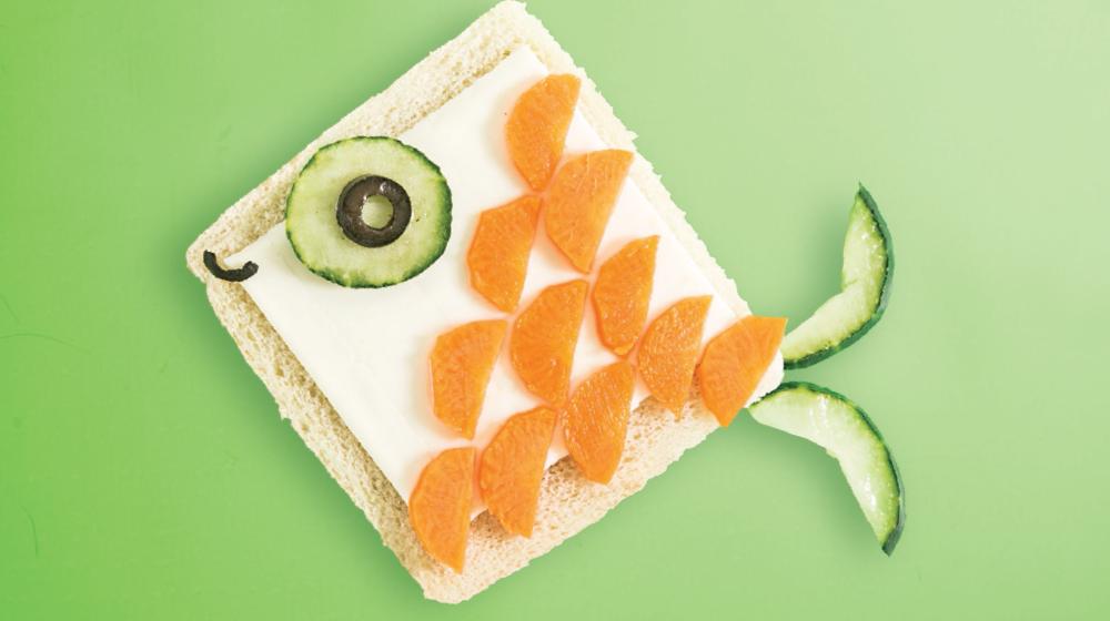 Sándwich creativos para niños: pescadito