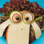 Sándwich decorados para niños: oveja