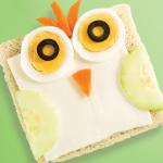 Sándwich de figuras para niños: gallina