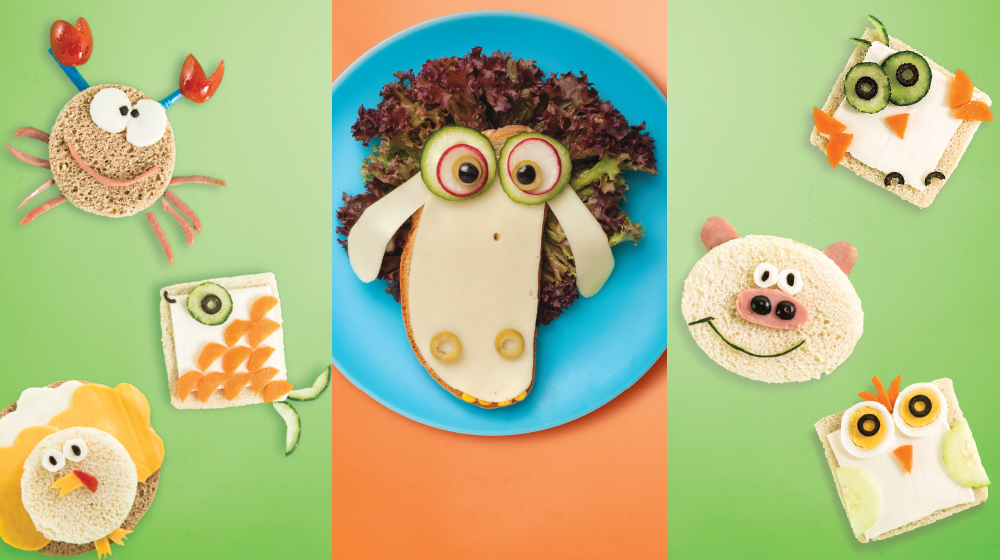 como preparar un sandwich nutritivo para niños