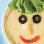 Sopa gratinada de carne de res para niños