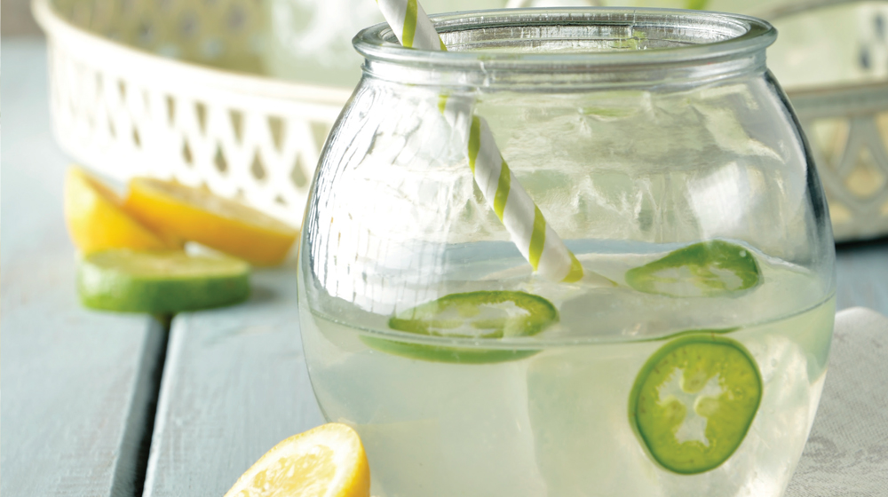 limonada con jalapeño