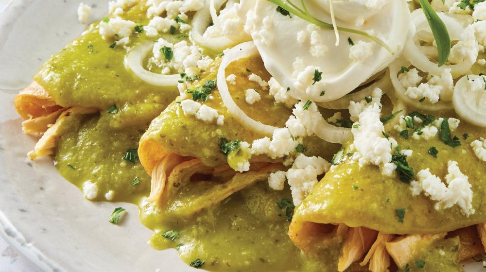 Enchiladas Verdes Las Consentidas De Mexico Cocina Facil