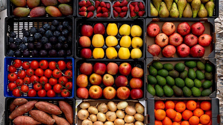 Verduras y frutas con cáscara