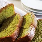 Exquisito panqué de té verde