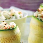 Rollitos de verdura con ensalada de surimi