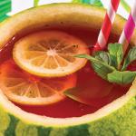 Sandía refrescante con menta y limón