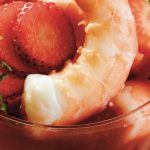 coctel de camarón con fresa