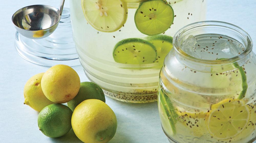 agua de limón con chía
