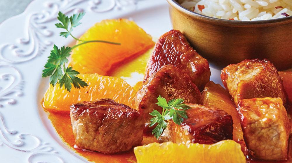 cerdo a la naranja