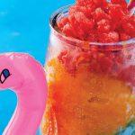 smoothie de fresa, mango y pepino
