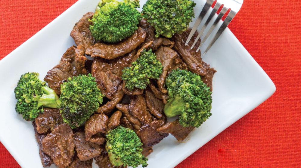 milanesas de res con brócoli