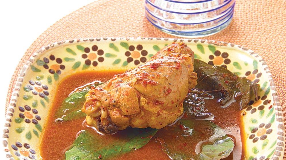 mixiotes de pollo