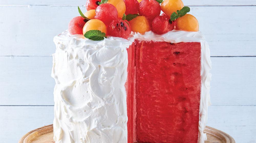 pastel de sandía