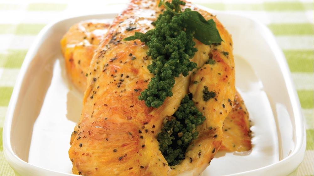 Pechugas rellenas: receta con huazontle