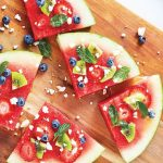 mini pizza de sandia