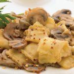 ravioles con hongos sofritos