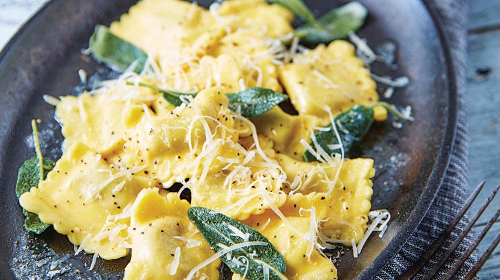 ravioles de espinaca con mantequilla