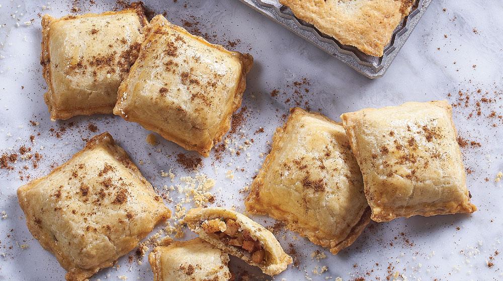 ravioles de manzana con canela